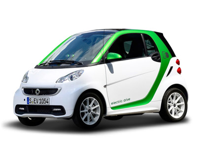 smart fortwo 电动车