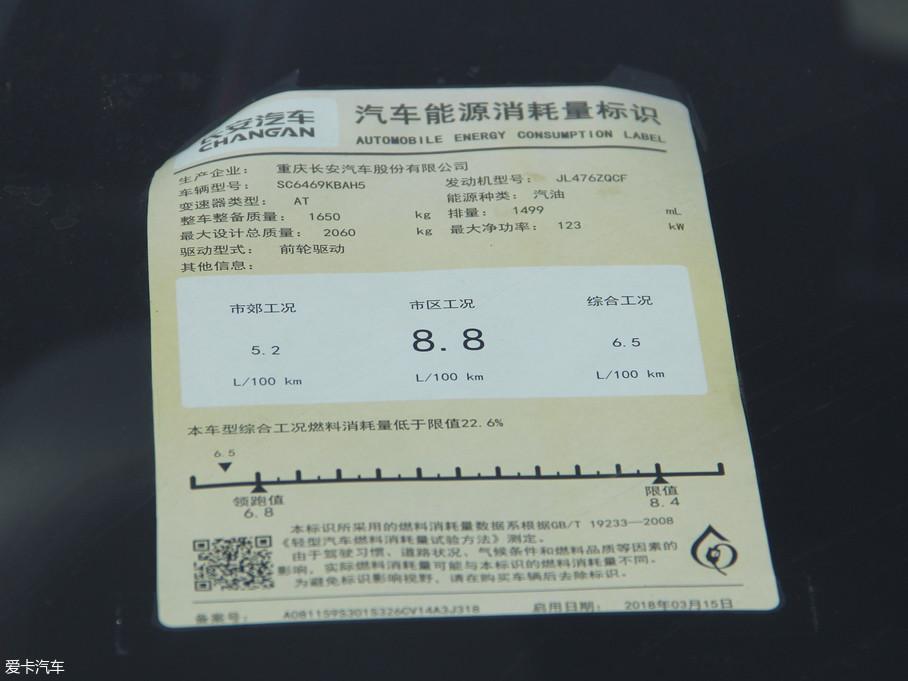 2018款长安CS75280T 自动睿智型