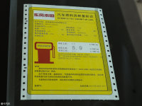其它本田XR-V工信部油耗标示