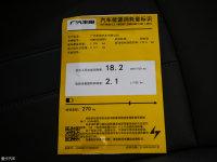 其它广汽ix4 EV工信部油耗标示