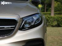 細節外觀奔馳E級AMG頭燈