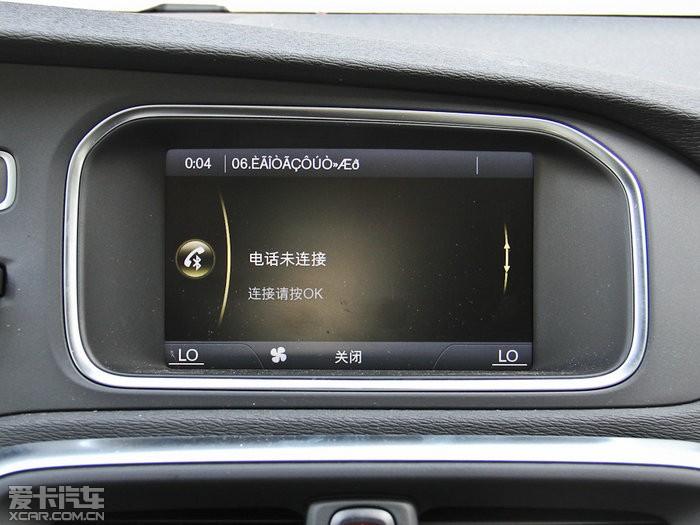 2014款沃尔沃v40越界车中控区图片 2014款沃尔沃v40越界高清图片