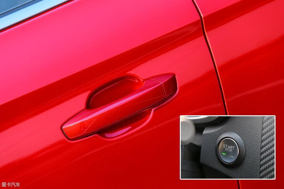 作为顶配车型,名爵ZS 2017款 16T 自动旗舰互联网版虽然配备了一键启动,却并没有配备无钥匙进入。
