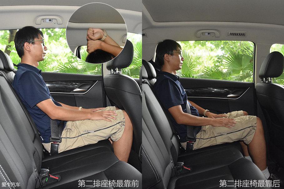 第二排的头部空间同样不成问题,由于前排座椅靠背进行了设计优化,所以,就算将前排座椅推至最前,也不会对乘客腿部造成很大不适。座椅的舒适度也非常高,第二排中部的座椅长时间乘坐也不会有太大问题。