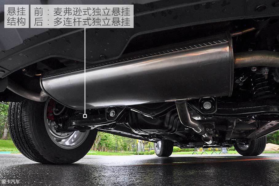 悬挂系统方面,1.8T车型也沿用了众泰T600运动版所采用的前麦弗逊、后多连杆结构。