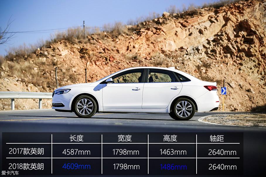 相较上一代车型,全新英朗在车身长度和高度上略有涨幅,而宽度和轴距方面则与老款保持一致。