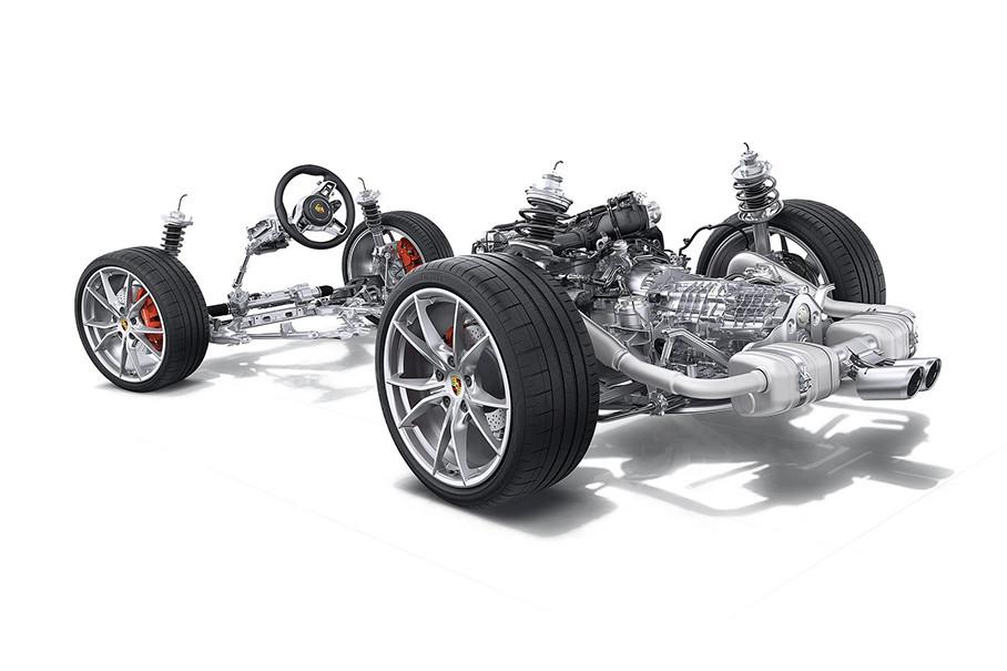 虽然718车型标配主动悬挂管理系统(PASM),但普通版的行车高度只能下降10mm,而运动型版本行车高度可以下降20mm。另外,该车型还可选装包括机械锁止式后差速器的保时捷扭矩引导系统(PTV),这些都是对操控起到相当大帮助的套件。