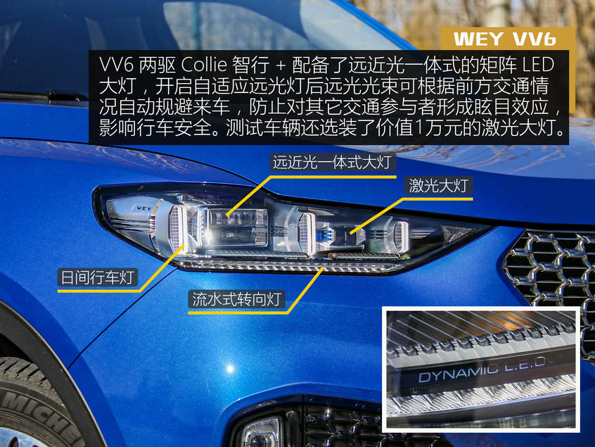 "WEY VV6外观:活泼的""蓝精灵"""