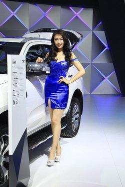 【广州车展福特车模】2015福特美女车模图片大全