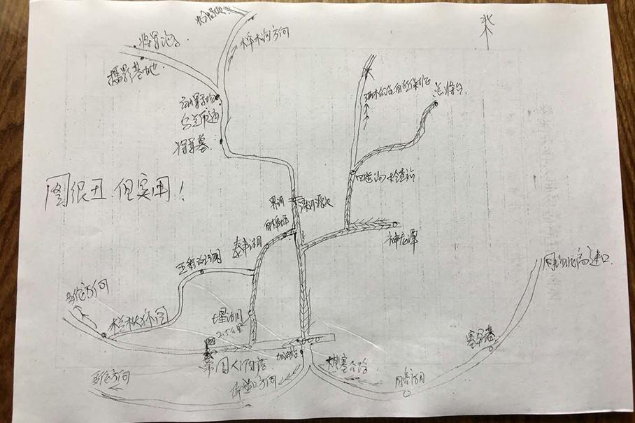 手绘地图线路图黑白