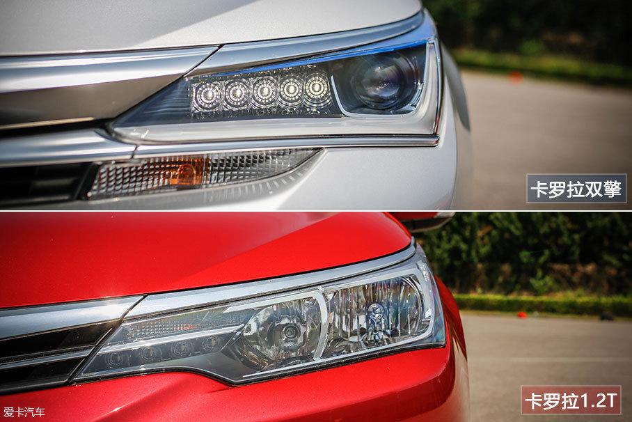 大灯内部的布局与材质也有明显差别。其中卡罗拉双擎全系标配LED远近光,当然,你会为此付出更高的价格。而卡罗拉1.2T则是采用了卤素灯源,同样也非常实用。