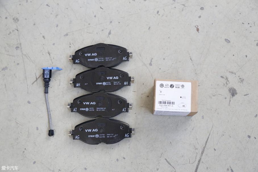 刹车片由天合集团提供,并带有刹车片厚度检测功能。我们之前测试的明锐280TSI车型的100-0km/h刹车距离为39.8m,进入了40m大关,刹车片的品质功不可没。