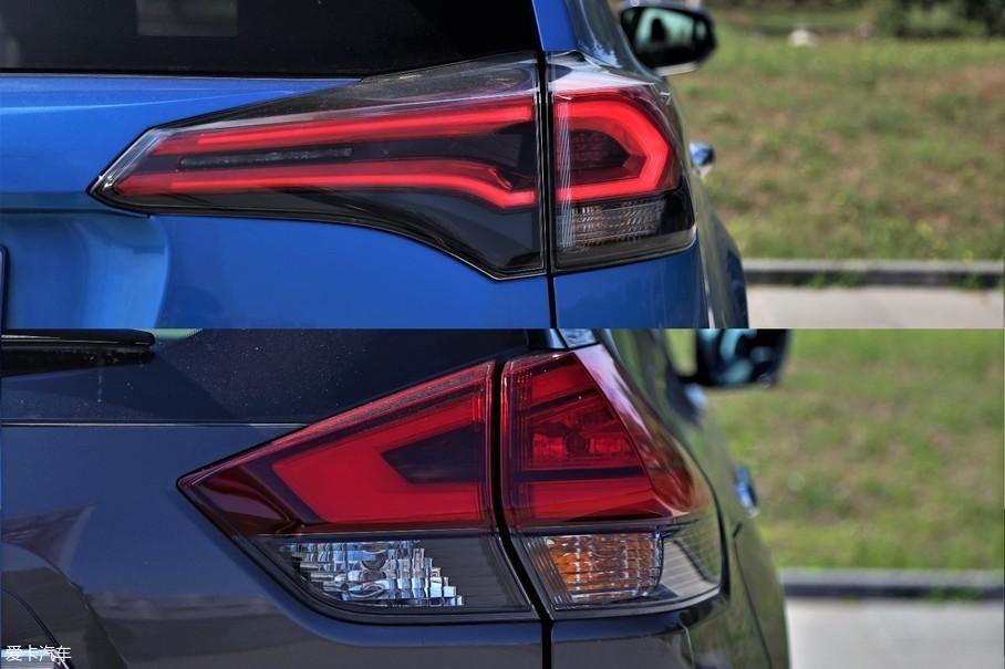 虽然两款车尾灯都采用了LED灯源,但RAV4荣放修长的尾灯造型更加犀利,也更具立体感,相比之下奇骏尾灯的造型就稍显木讷。