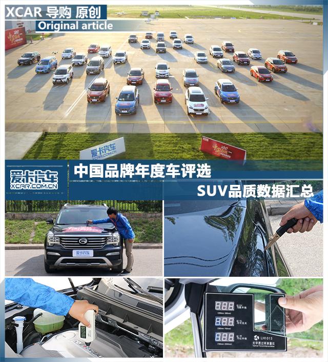 SUV品质数据汇总