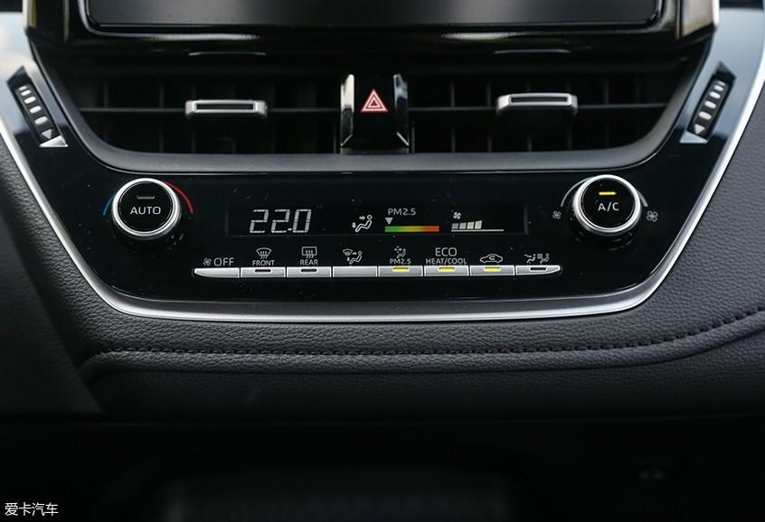 广汽丰田2019款雷凌 双擎空调面板