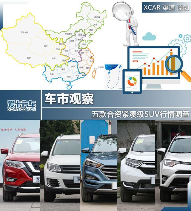 车市观察 五款合资紧凑级SUV行情调查