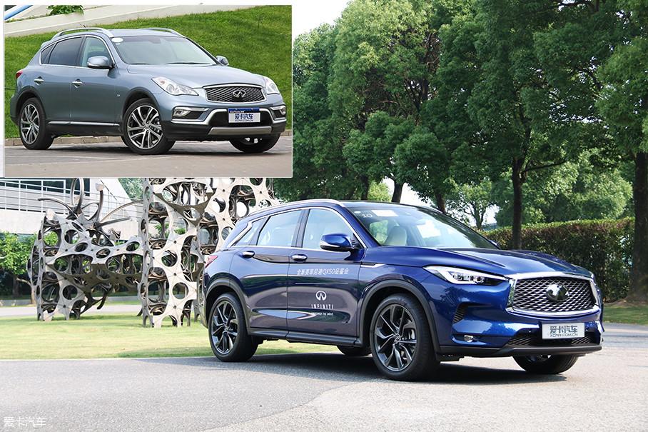 相比老款车型,全新QX50在设计上加入了当今人们非常喜爱的元素,犀利的鹰眼大灯、更大尺寸的进气格栅和刀锋般的车身线条,等一系列直击年轻人审美的设计元素,一股脑地被应用于新车上。