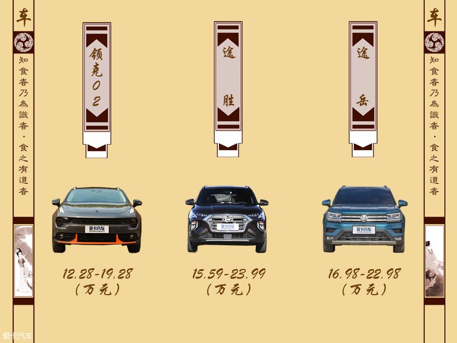 20万元紧凑型SUV新车推荐
