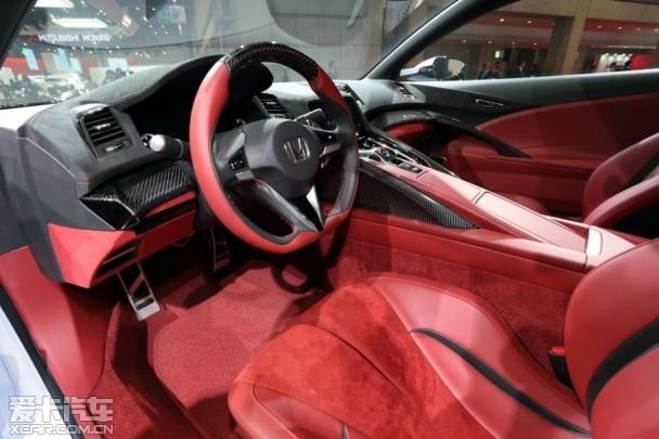 本田nsx concept概念车的内饰,完成度已基本为量产车水平