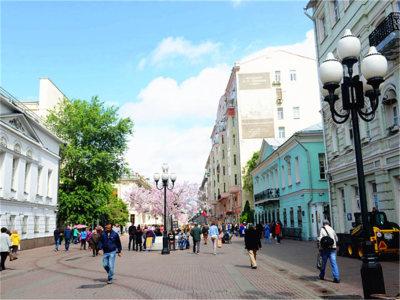 """""""莫斯科精灵"""" 走进阿尔巴特古老大街"""