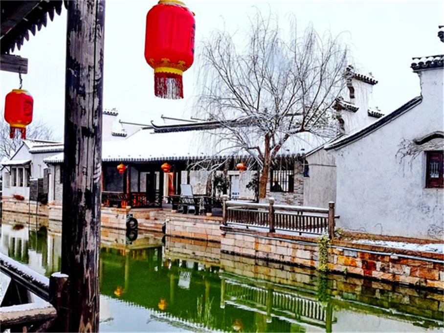 雪中的江南古镇 无锡荡口 有吃有喝有玩