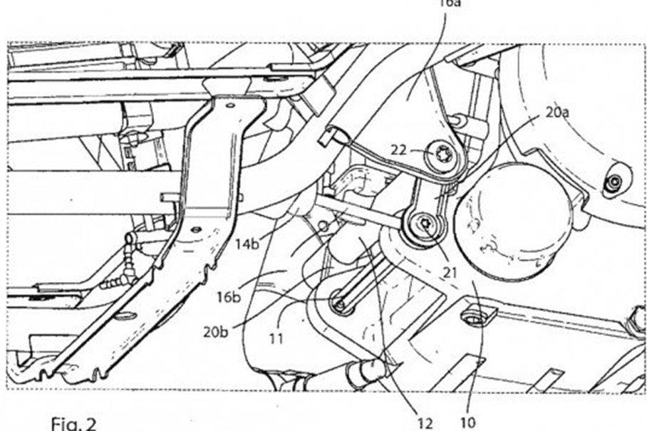 新型踏板车阻尼结构示意图