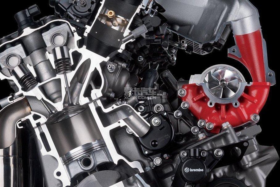 川崎h2r增压发动机结构.