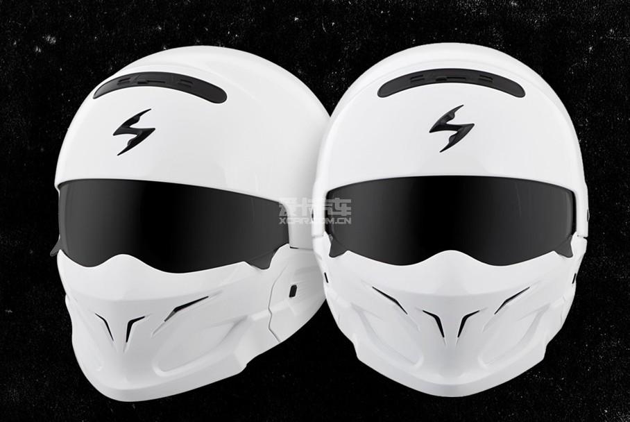 美国scorpion covert头盔白色款外观和星球大战电影中白士兵造型颇为