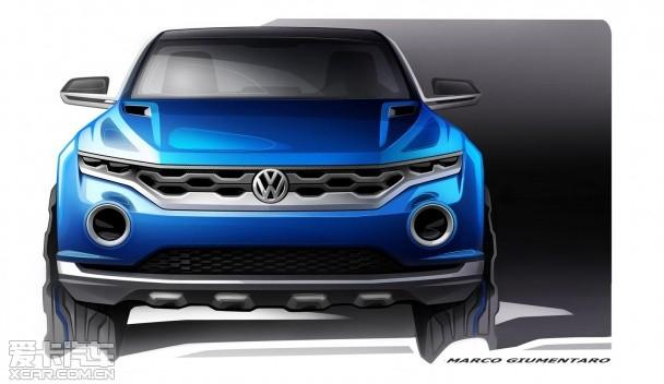 大众t-roc概念车设计图 将日内瓦发布