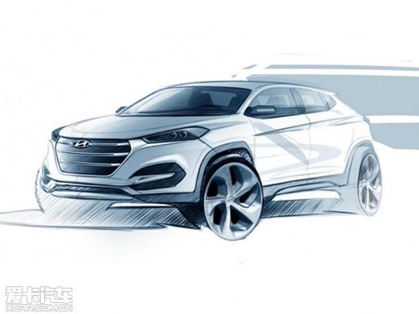 现代全新ix35设计图 将日内瓦车展亮相