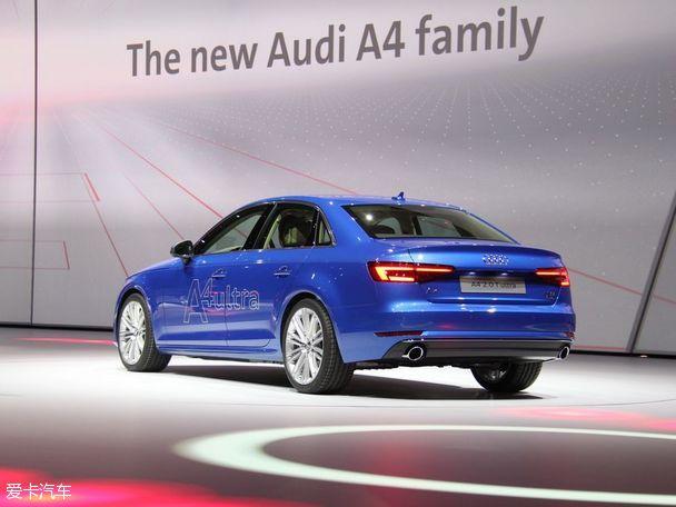 奥迪全新A4法兰克福车展首发 明年入华