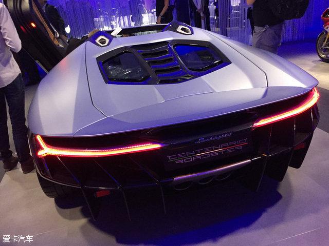 兰博基尼Centenario敞篷版巴黎车展亮相