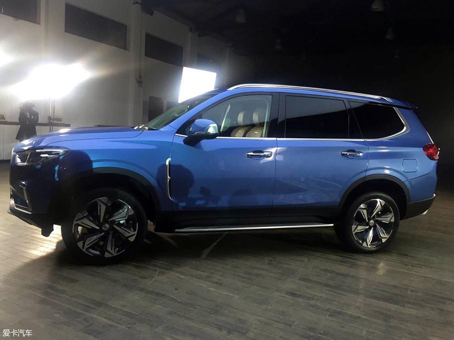 上汽大通全新SUV D90亮相 提供7座布局