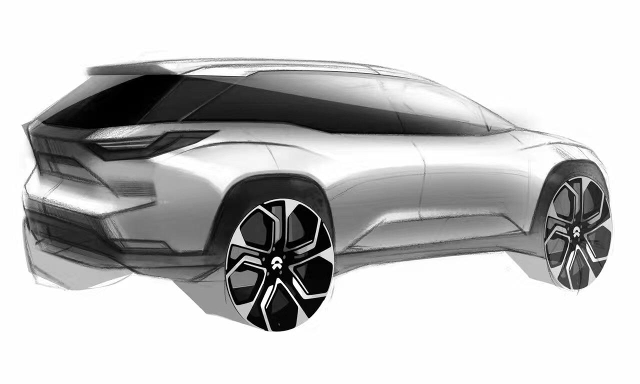 蔚来汽车ES8设计草图