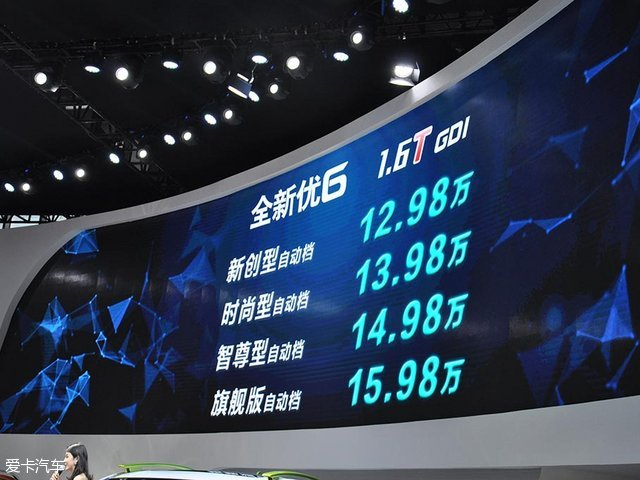 2017上海车展:纳智捷新款优6正式上市