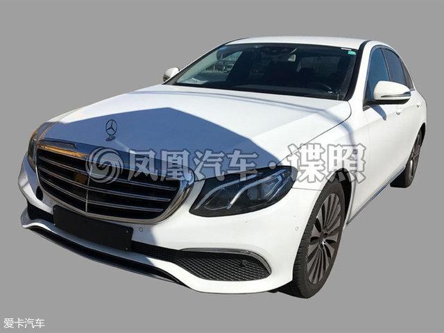 北京奔驰E 180 L无伪装实车照