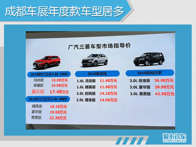 """成都车展期间,上市了多达几十款的新车,但细心的消费者能够看出并非为全部新车,而是以年度款车型居多,占到了一半以上的份额,如新款雷克萨斯NX、新款广汽三菱欧蓝德等产品,仅仅是针对配置进行调整,并无实质性的变化,售价基本保持在老款车型的水平。与此同时,年度款车型的推出,一定程度上提高了性价比,同时为整车厂在车展期间""""造势"""",且能够起到一定的效果,并助在车展期间能够卖到更高的销量。"""