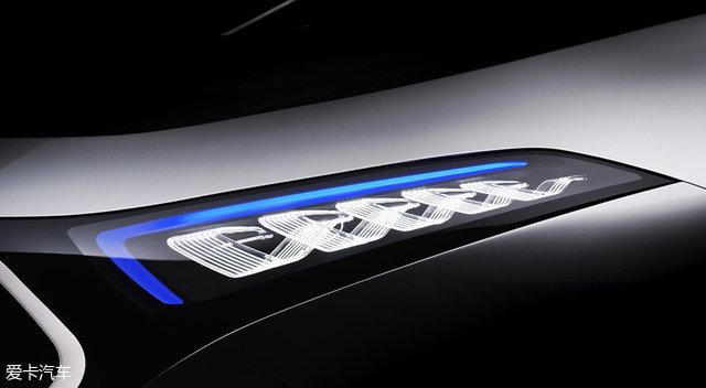 奔驰EQA概念车最新预告图 9月12日亮相