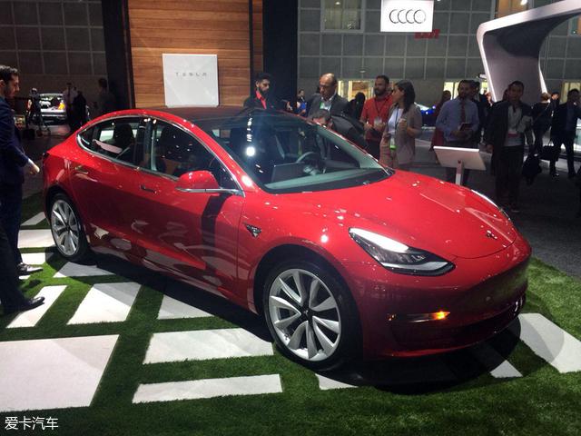 2017洛杉矶车展:特斯拉MODEL 3正式亮相