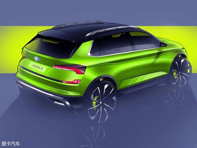 斯柯达VISION X概念车预告图 将3月发布