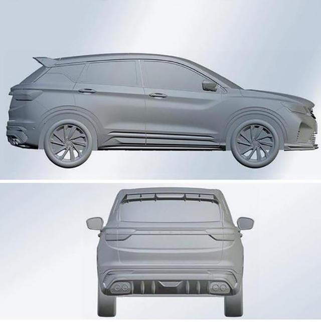 家族式设计 吉利SX11运动版专利图曝光