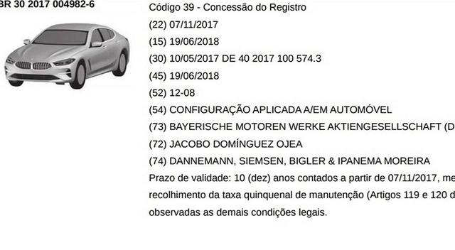 宝马8系专利图