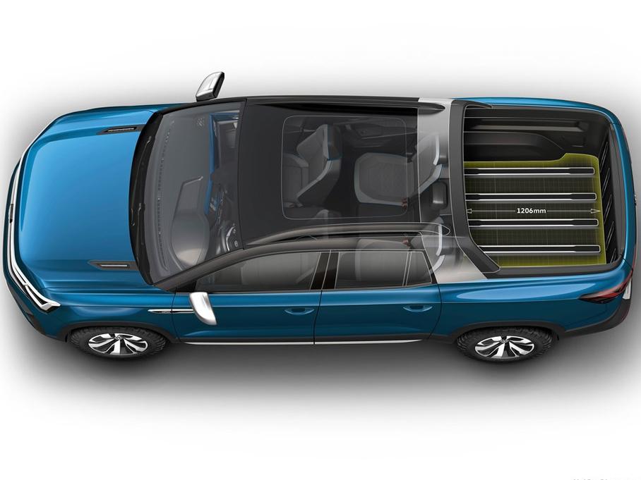 大众Tarok概念车官图发布 定位皮卡车型