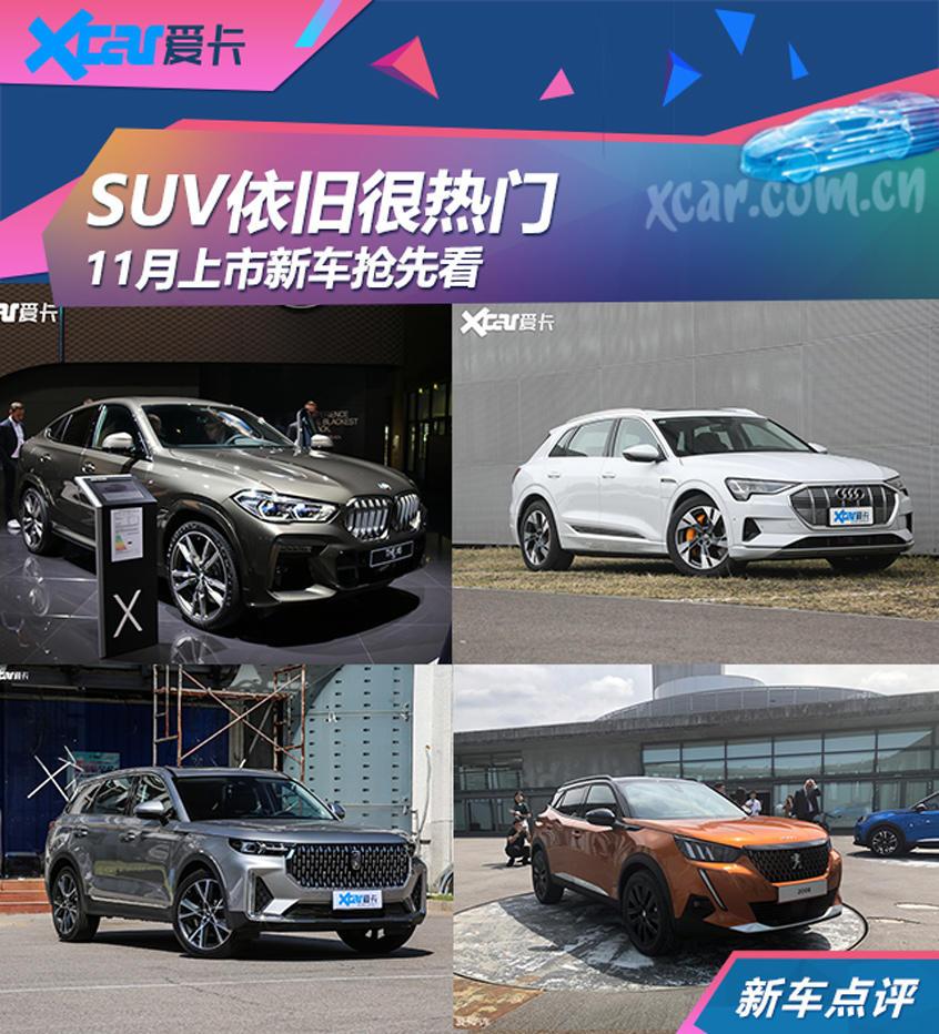 全新一代宝马X6领衔 11月上市新车前瞻