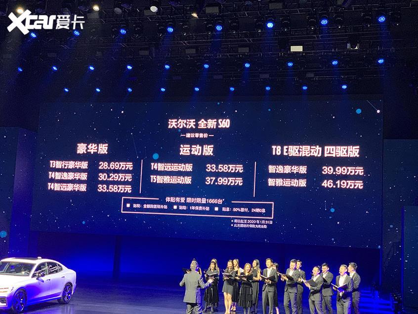 新一代沃尔沃S60上市 28.69-46.19万元