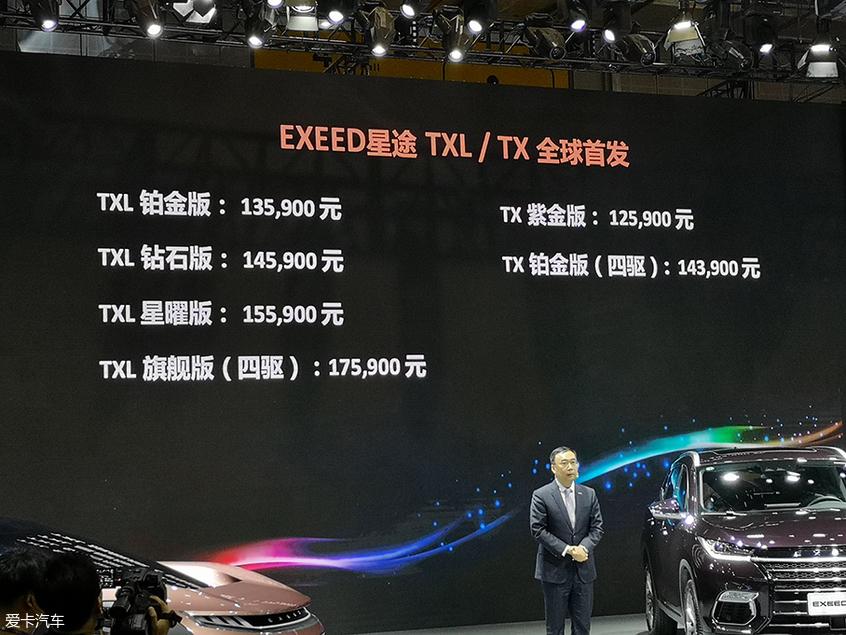 2019上海车展:EXEED星途TX/TXL正式上市
