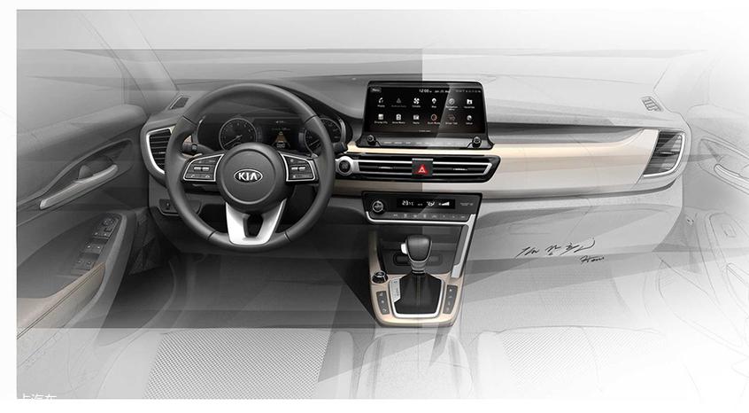 起亚全新小型SUV内饰预告图 将近期发布
