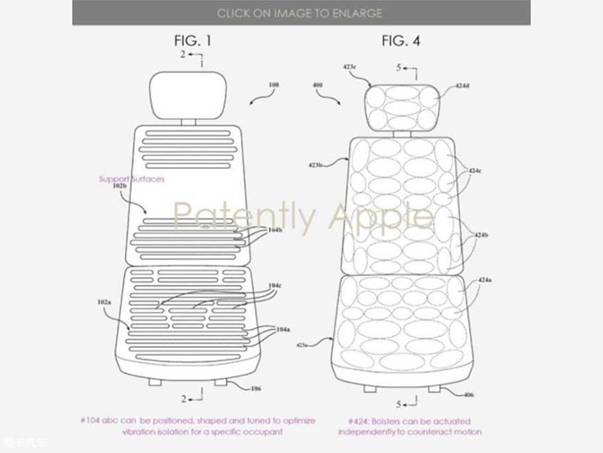 让乘坐者更舒适 苹果获得汽车座椅专利