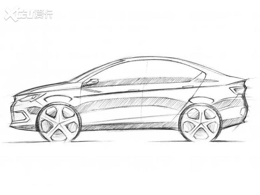 野马全新车型设计图 为新能源三厢轿车