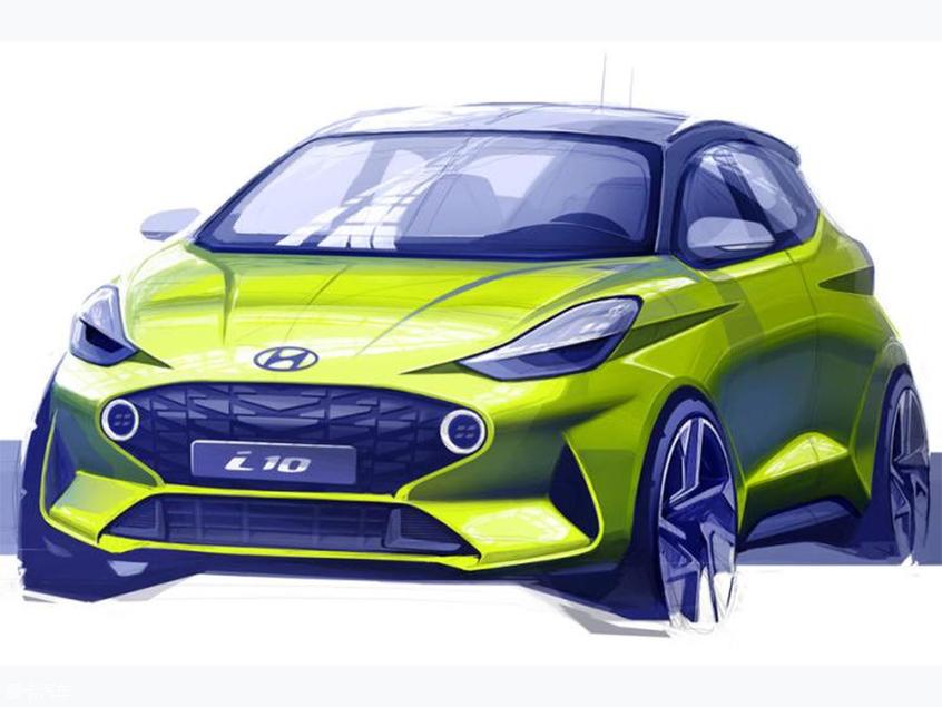 全新现代i10草图发布 法兰克福车展首发